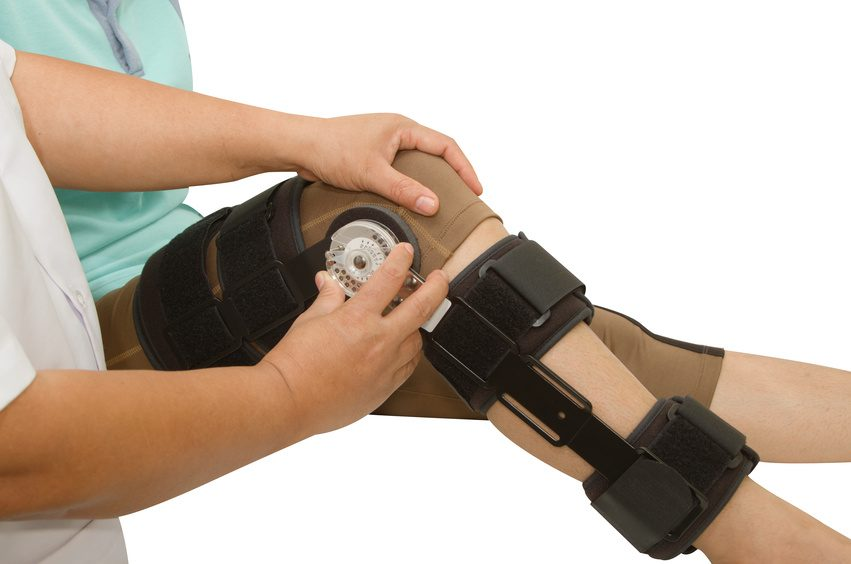 doctor adjustable angle knee brace support for leg or knee injury